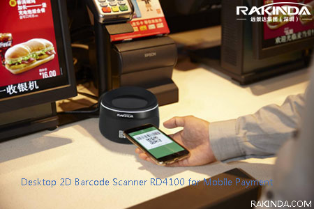 Desktop 2D Barcode Scanner RD4100 for Mobile Payment