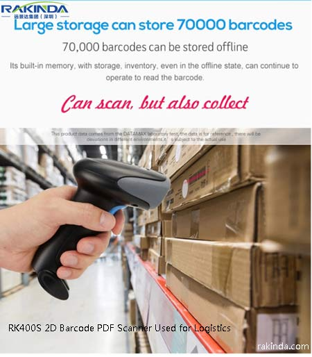 RK400S IP54 wireless handheld 2d barcode scanner